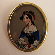 SALE Victorian Revival Lady Portrait Brooch