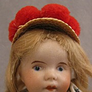 "7"" SFBJ Bisque Doll in Regional Costume"