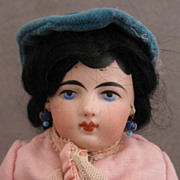 "10"" Dark Haired Francois Gautier 3/0 Shoulder Head on Kid Body"