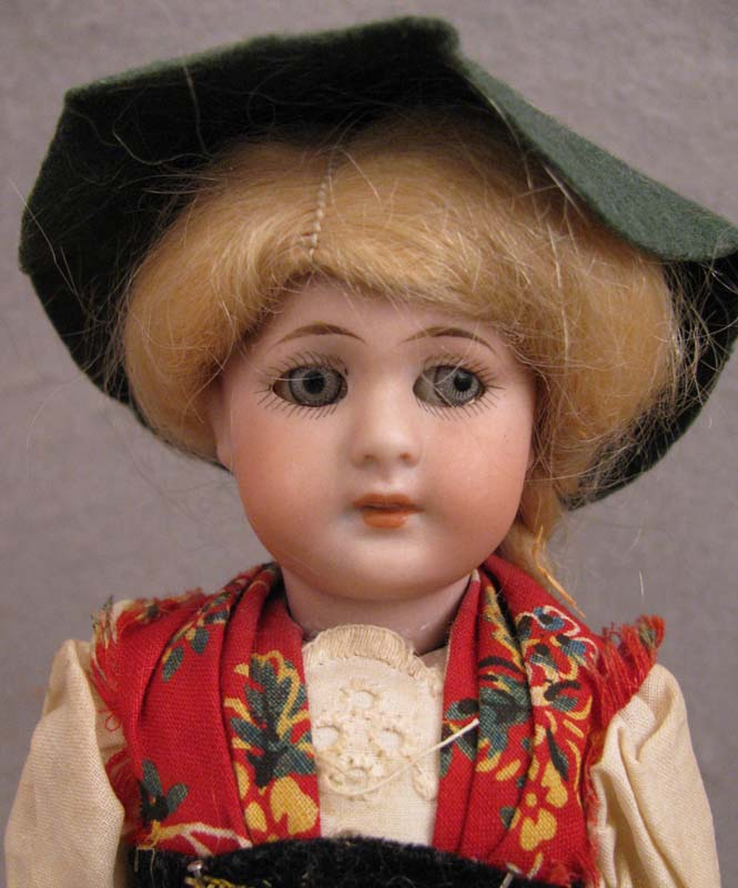 "8"" German Simon & Halbig Bisque Doll in Regional Costume"