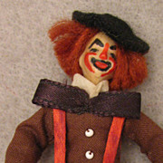 "NIADA Irma Parks1960s Miniature 3"" Wax Clown Doll"
