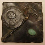 c.1900 Hand Made Bronze Arts & Crafts Cicero Brooch