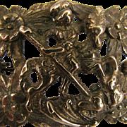 SALE Antique St. George Slaying Dragon Brooch