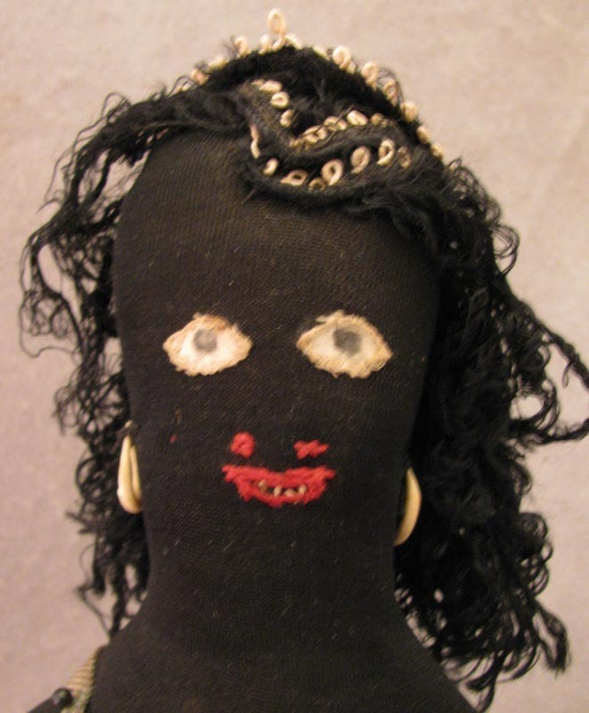 """12"""" Home Made Ethnic Black Cloth Doll c. 1920s-30s"""