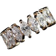 MUAO: Spectacular 5.20ct Hi-End Marquise Diamond Eternity Band