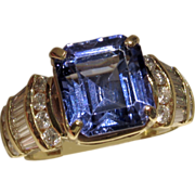 MUAO: $14,650 RIVETING 7.67ct Tanzanite and Diamond Ring