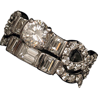 MUAO: CARTIER Extremely Fine 1974 GIA 2.61ct Diamond Engagement Wedding Ring Set