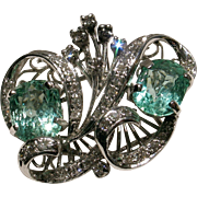 MUAO: Certified Vintage Double Emerald & Diamond Cocktail Ring