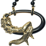 """Rare ERTE """"LaBelle"""" State 11 - Gold, Black Onyx. Highly Collectible!"""