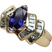 Captivating Unheated Color-Change Sapphire & Diamond Ring