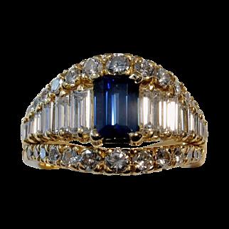 REDUCED MUAO: $13,850 Magnificent 4.06tcw UNHEATED Blue Sapphire & Diamond Ring
