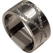 MUAO: Fantastic Unisex HEAVY Solid Platinum & Diamond Band