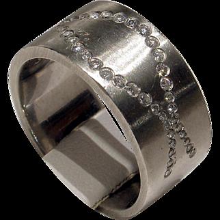 REDUCED MUAO: Fantastic Unisex HEAVY Solid Platinum & Diamond Band