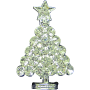Vintage ice rhinestone Christmas tree pin