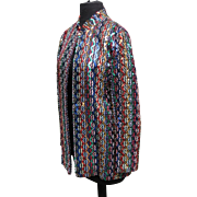 SALE Vintage Saks Fifth Ave. colorful sequined jacket