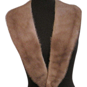 Vintage long mink fur collar