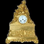 Antique French Ormolu Figural Mantel Clock