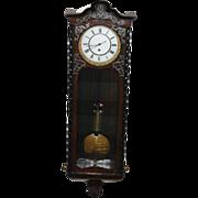 Antique Austrian Vienna Regulator Wall Clock, One Weight