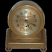 """C.1928 Chelsea Clock Co.,"""" Concord"""" 8 day Miniature Desk Clock"""