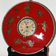 c.1920s. German,  30 hours  Alarm Shelf or Wall Clock