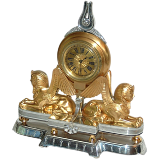 REDUCED Swiss  Art  Nouveau Small Table or Desk Clock