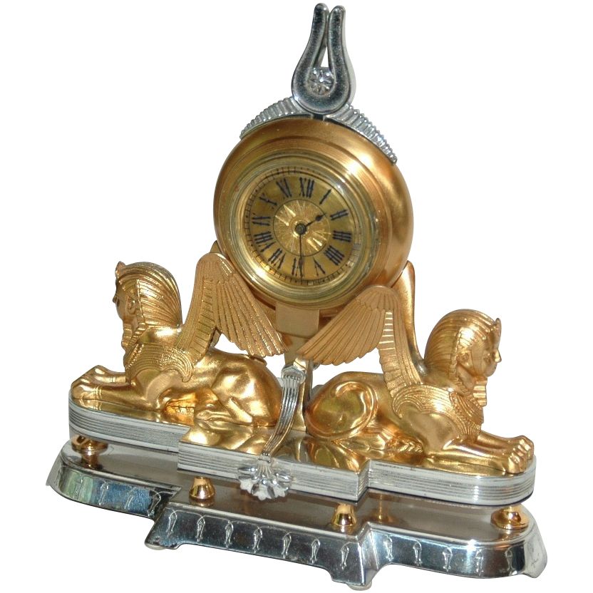 Swiss  Art  Nouveau Small Table or Desk Clock