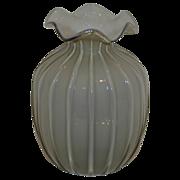 Gray Topaz Color Cased Art Glass Vase