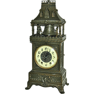 SALE Antique French  Automation Marti & Cie Striking Mantel Clock