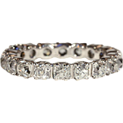 Vintage Art Deco Eternity Band, 3.4ctw, Size 7