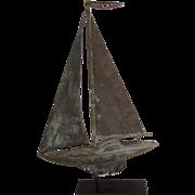 Early Sailboat Weathervane