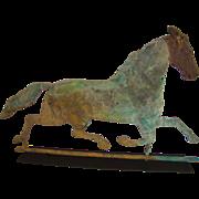 "Rare 19th Century Running Horse Weathervane Signed ""Harris"""