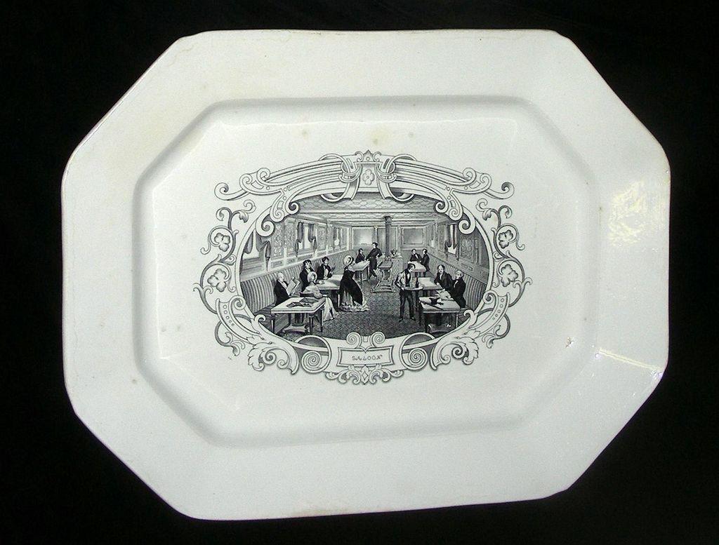 "Large American Historical Staffordshire ""Boston Mails"" Platter, c. 1840"