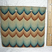 Early 19th Century Flame Stitch Purse or Pocket Book