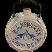 c. 1870-1880 Bardwell's Root Beer Stoneware (White's, Utica) Advertising Keg