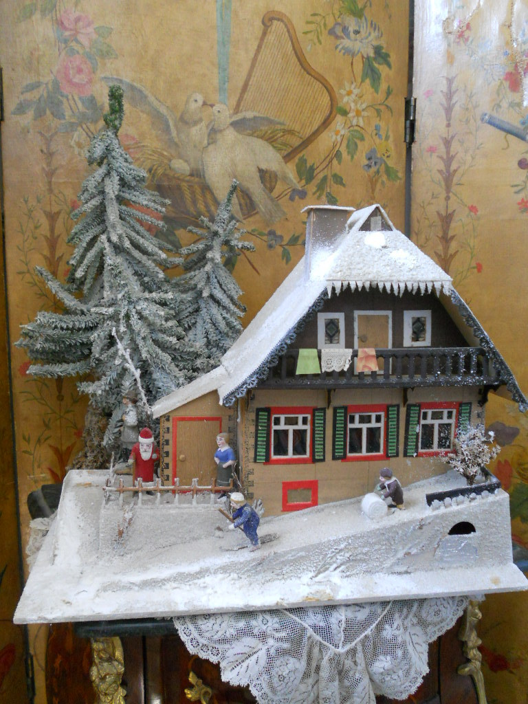 ~~~ Pretty German Cardboard Christmas House ~~~