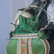 ~~~ Very Beautiful Fashion Doll Bag / France circa 1890 ~~~