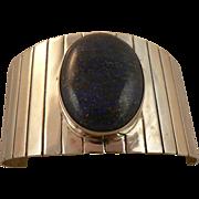 Large Lapis Sterling Bracelet  ~Signed~MEXICO~Rapul Cans.