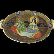 1930 Japan Tashiro Shoten Hand Painted Tray