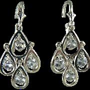 Sensational 14k Tanzanite Earrings~Pierced.