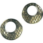 Vintage Mexican Sterling Earrings by Manuel Porcayo Figueroa .