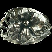 Art Nouveau Floral Sterling Bracelet.