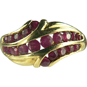 Vintage Ruby Ring-14k-Size 10.