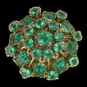 Tsavorite Garnet and  14k Gold ring-Size 8.