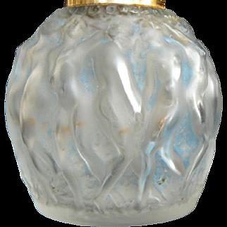 1920s Vintage Rene LALIQUE French Perfume Bottle Molinard Calendal Nudes Figural