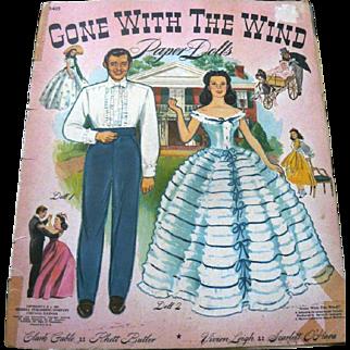 SALE Rare Original 1940 Gone With the Wind Paper Dolls Merrill Uncut