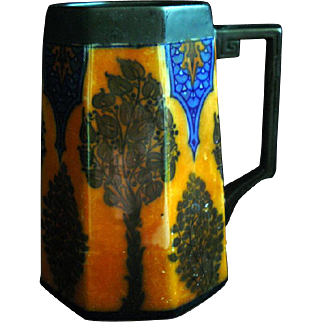 SALE Rare Reco Capily Lusterware Royal Doulton Stein Mug Arts & Crafts circa 1915 Art Nouveau