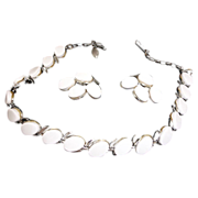 Vintage Necklace and Earrings Set or Demi Parure - Vintage Thermoset Jewelry