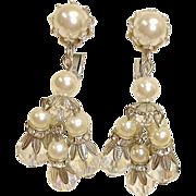 Vintage VENDOME Dangle Drop Earrings - Chandelier Earrings By Vendome Jewelry