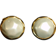 Vintage  Faux Mabe Baroque Pearl Earrings –  Glass Baroque Pearl Jewelry