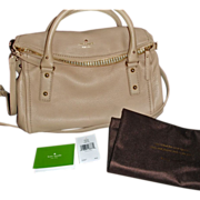 Retired Kate Spade HANDBAG PURSE  - New York Cobble Hill Small Leslie -  Oyster Beige Discontinued - w/ Original Dust Bag